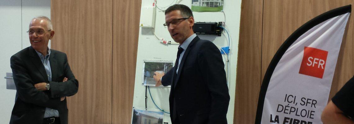 La ville de Villeneuve-Tolosane et SFR annoncent l'arrivée de la fibre optique