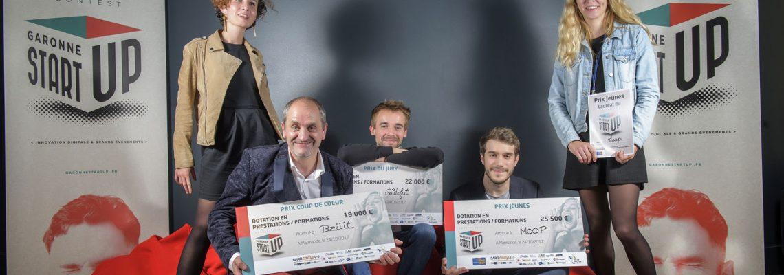 Marmande: Moop, Guidefest et Bziiit lauréats de Garonne Startup 2017