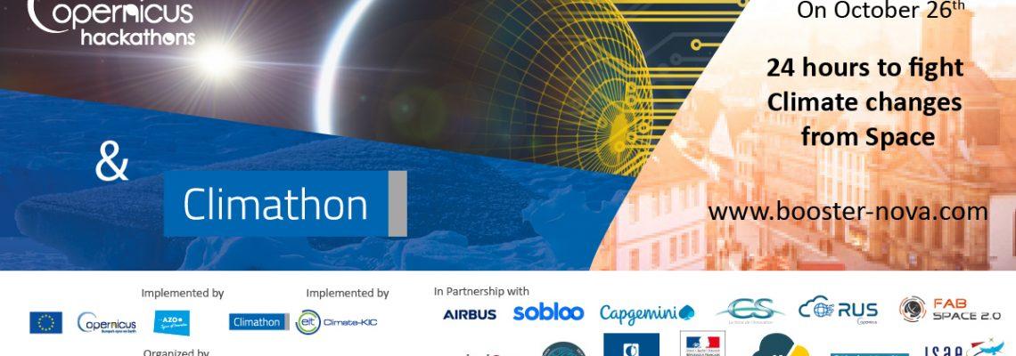 26 octobre: Copernicus Hackathon & Climathon
