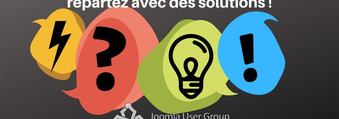 21 décembre : Joomla User Group : vous avez des questions ? repartez avec des solutions !