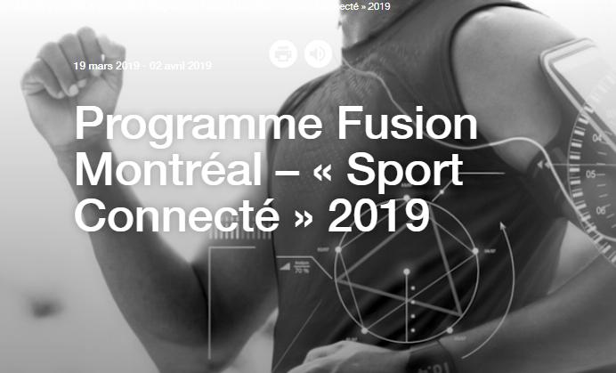 Qu'est que Fusion Montréal « Sport Connecté » ?