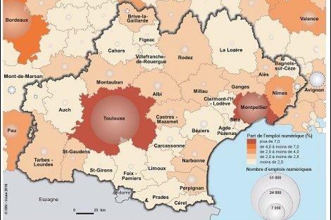 Conjoncture : en Occitanie, l'économie numérique génère des emplois en haut-débit
